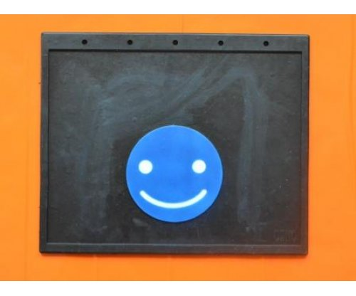 1081 Брызговик смайлик синий простая надпись(400х320)