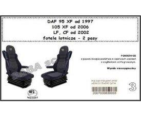 1703 Чехол DAF 95XF от 1996, 105XF от 2006, CF, LF с 2002, сиденья-вертушки, 2ремня