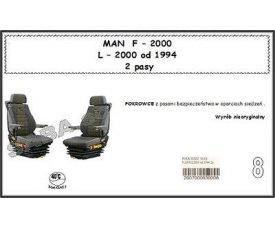 1706 Чехол MAN F-2000, L-2000 с 1994, 1+1, 2ремня