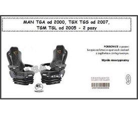 1707 Чехол MAN TGA с 2000, TGX, TGS от 2007, TGM, TGL от 2005, 2ремня