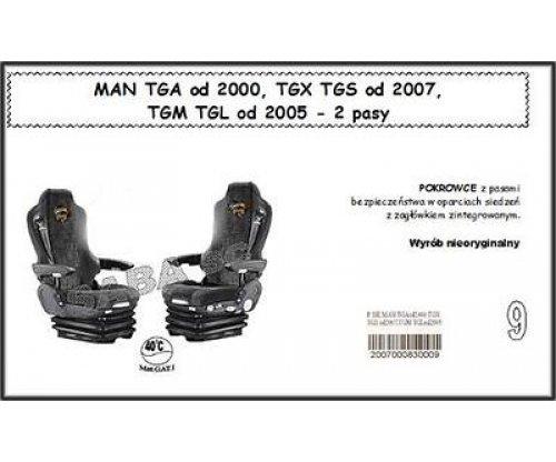 Чехол MAN TGA с 2000, TGX, TGS от 2007, TGM, TGL от 2005, 2ремня