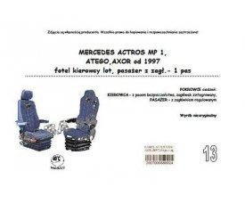 1708 Чехол MERCEDES ACTROS MP I AXOR, ATEGO с 1997, водитель сиденье-вертушка, 1ремень