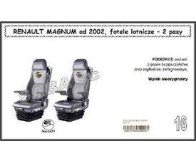 1711 Чехол RENAULT MAGNUM с 2002, сиденья-вертушки, 2ремня