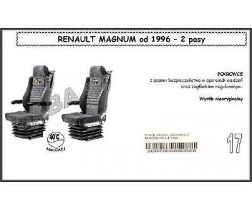 1712 Чехол RENAULT MAGNUM от 96, 2ремня