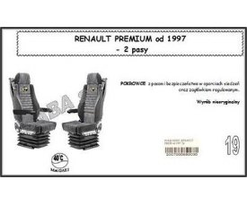 1714 Чехол RENAULT PREMIUM от 1997, 2ремня