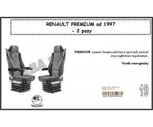 Чехол RENAULT PREMIUM от 1997, 2ремня