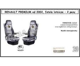 1715 Чохол RENAULT PREMIUM від 2002, сидіння-вертушки, 2ремені
