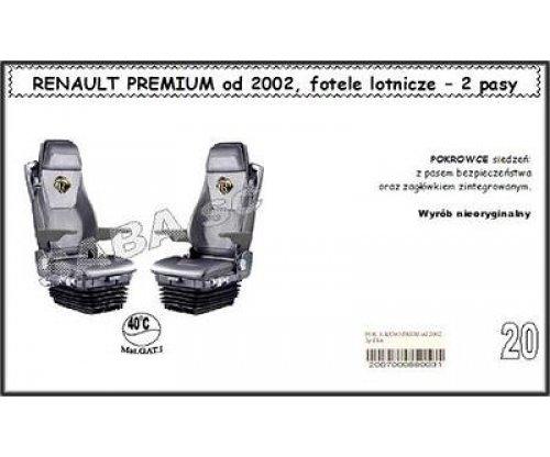 1715 Чехол RENAULT PREMIUM с 2002, сиденья-вертушки, 2ремня