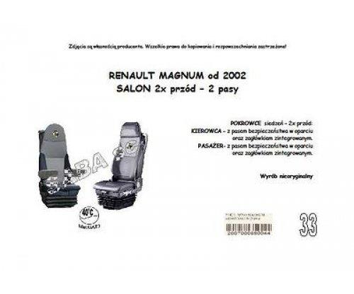 Чохол RENAULT MAGNUM від 2002, версія DUO, 2*перед, 2ремені