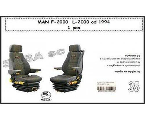 Чохол MAN F-2000 1ремінь, L-2000 від 1994, 1+1, 1ремінь