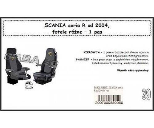 Чохол SCANIA 124 R від 2004, різні сидіння, 1ремінь