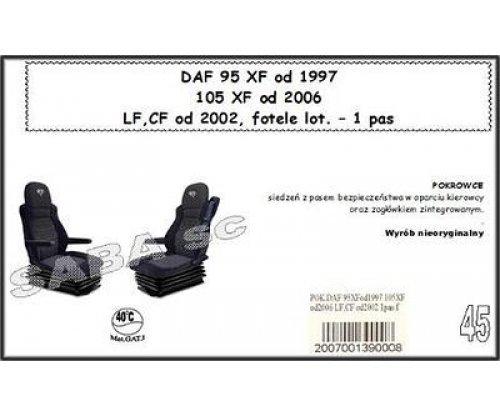 Чохол DAF 95XF від 1997, 105XF від 2006, LF, CF від 2002, сидіння-вертушки, 1ремінь