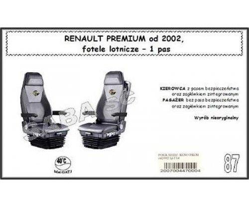 Чехол RENAULT PREMIUM с 2002, сиденья-вертушки, 1ремень