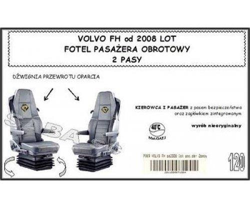 Чехол VOLVO FH от 2008, пассажир сиденье-вертушка, 2ремня