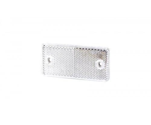 5026 UO 026 Рефлектор-відбивач прямокутний(44х94 мм) з отворами на шурупах білий