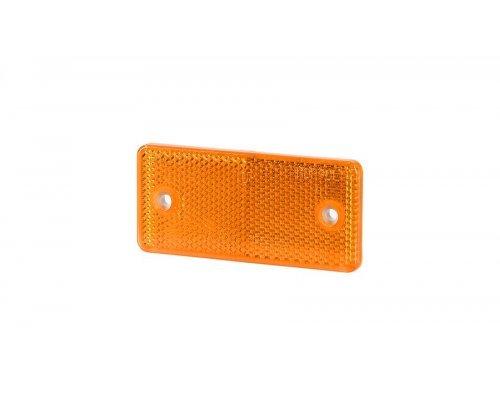 Рефлектор-відбивач прямокутний(44х94 мм) з отворами на шурупах оранжевий UO 027