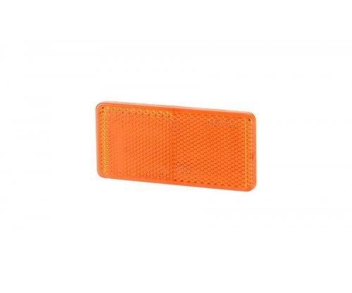 5030 UO 030 Рефлектор-відбивач прямокутний(44х94мм) з самоклеючою стрічкою оранжевий