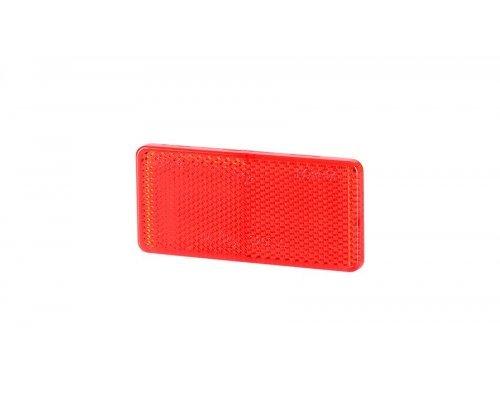 5031 UO 031 Рефлектор-відбивач прямокутний(44х94мм) з самоклеючою стрічкою червоний