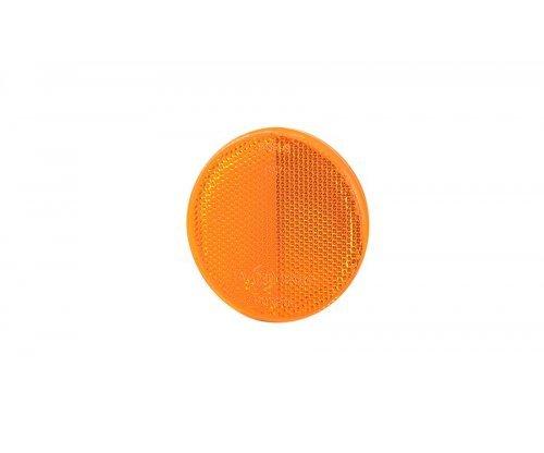 Рефлектор-відбивач круглий(O 75) з самоклеючою стрічкою оранжевий UO 039