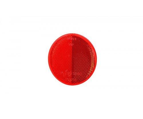 Рефлектор-отражатель круглый красный (O 75) с самоклеющейся лентой UO 040