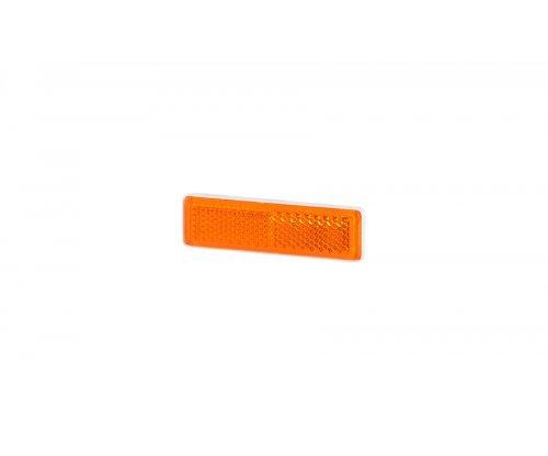 Рефлектор-відбивач прямокутний вузький(19х69мм) з самоклеючою стрічкою оранжевий UO 088