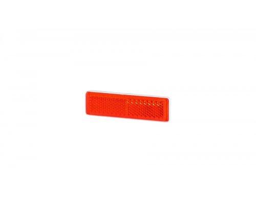 Рефлектор-відбивач прямокутний вузький(19х69мм) з самоклеючою стрічкою червоний UO 089