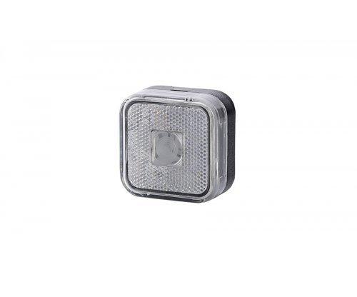 Габаритний квадратний ліхтар HOR 23 з відбивачем білий LO 093