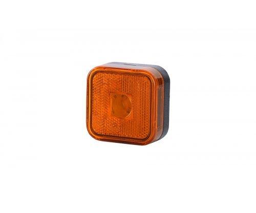 Габаритный квадратный фонарь HOR 23 с отражателем оранжевый LO 094