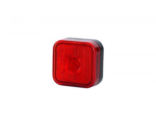 Габаритный квадратный фонарь HOR 23 с отражателем красный LO 095