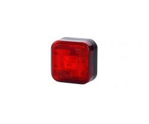 Габаритно-контурний ліхтар LED квадратний з відбивачем червоний LD 098