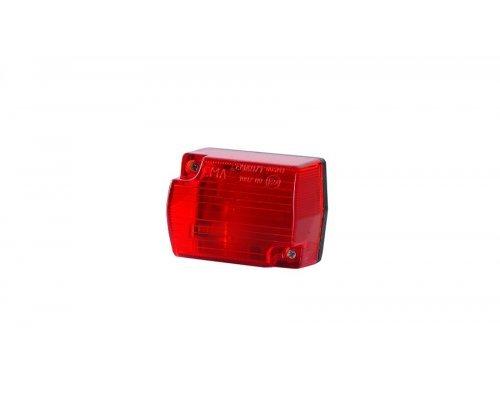 Габаритний прямокутний малий ліхтар червоний LO 114