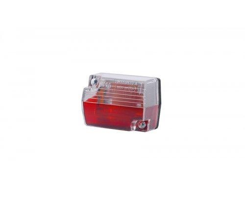 Габаритный прямоугольный малый фонарь красный/белый LO 115