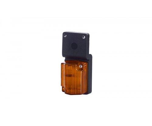 Габаритний рельєфний малий ліхтар з кронштейном на шурупах оранжевий LOW 117