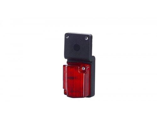 Габаритний рельєфний малий ліхтар з кронштейном на шурупах червоний LOW 118
