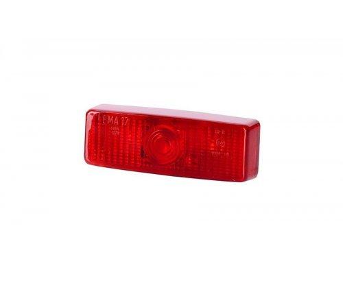 Габаритний прямокутний ліхтар на засувку червоний LO 122