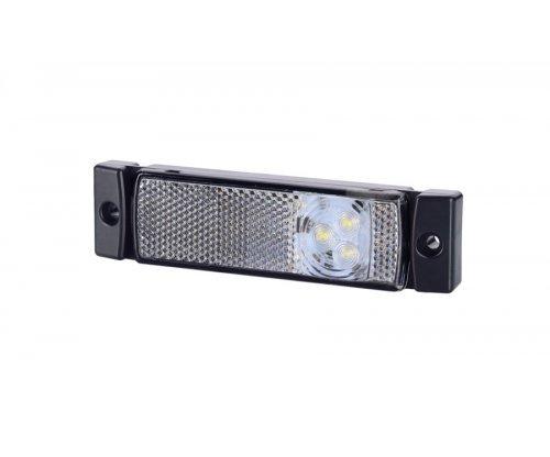 Габаритно-контурный фонарь HOR 41 3 LED с отражателем белый LD 127