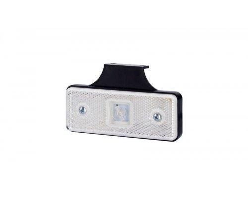 Габаритно-контурний ліхтар HOR 42 LED з відбивачем з кронштейном білий LD 160