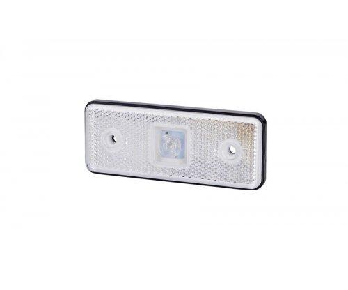 Габаритно-контурный фонарь HOR 42 LED резиновый корпус с отражателем белый LD 160/4