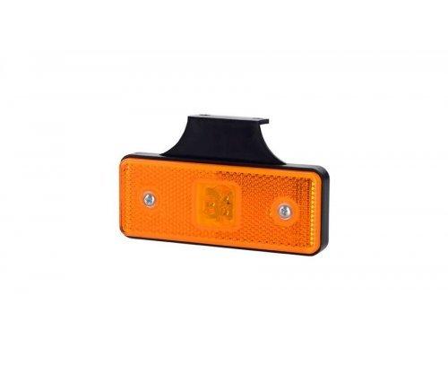 Габаритно-контурный фонарь HOR 42 LED с отражателем с кронштейном оранжевый LD 161