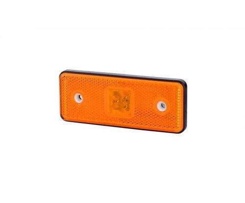Габаритно-контурний ліхтар HOR 42 LED резиновий корпус з відбивачем оранжевий LD 161/4