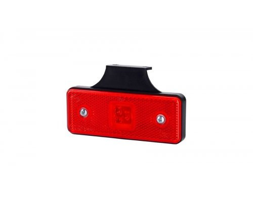 Габаритно-контурный фонарь HOR 42 LED с отражателем с кронштейном красный LD 162