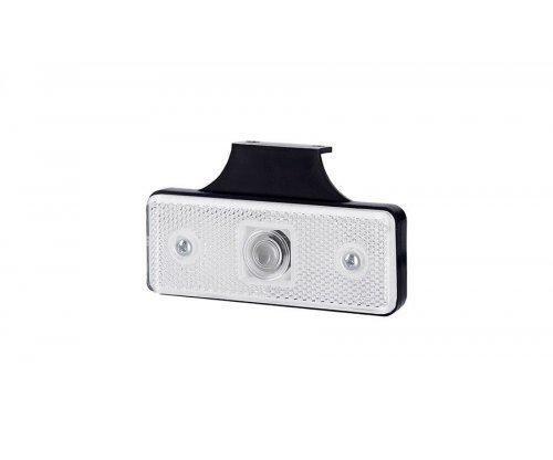 Габаритний прямокутний ліхтар HOR 43 з відбивачем з гачком білий LO 177/W