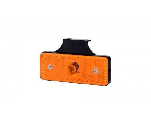 Габаритный прямоугольный фонарь HOR 43 с отражателем с крючком оранжевый LO 178/W