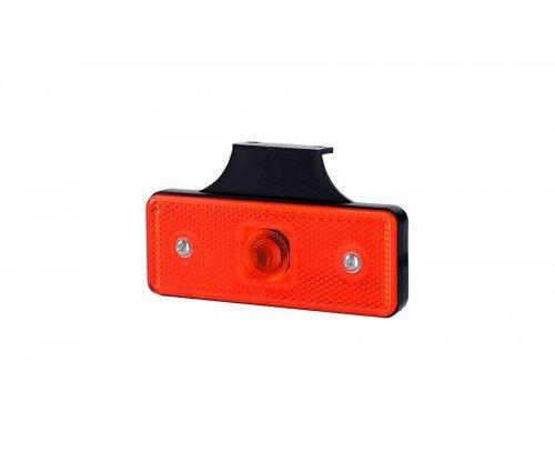 Габаритний прямокутний ліхтар HOR 43 з відбивачем з гачком червоний LO 179/W