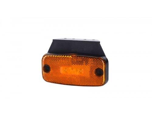 Габаритно-контурный фонарь LED с отражателем с кронштейном оранжевый LD 180