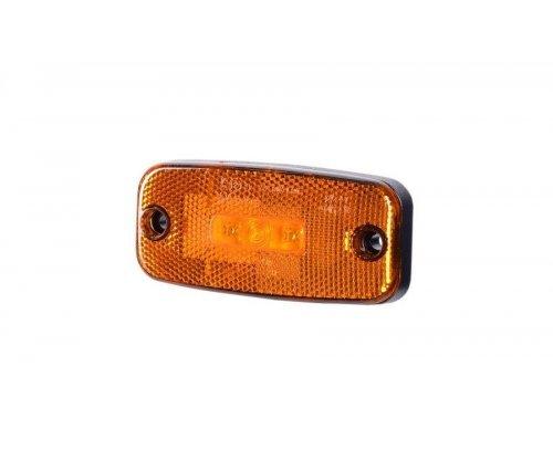 Габаритно-контурний ліхтар LED з відбивачем без кронштейна оранжевий LD 185