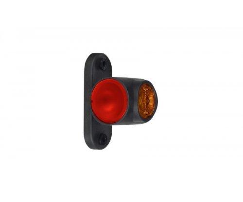 Выносной габаритно-контурный фонарь LED рожок короткий прямой белый/красный/оранжевый LD 2040
