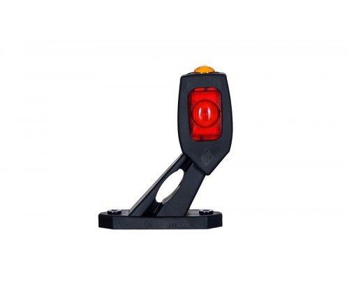 Габаритно-контурний ліхтар LED ріжок під кутом короткий лівий білий/червоний/оранжевий LD 2115/L