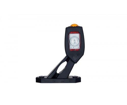 Габаритно-контурний ліхтар LED ріжок під кутом короткий правий білий/червон/оранжевий LD 2115/P