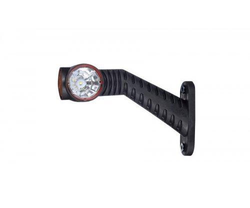 Выносной габаритно-контурный фонарь LED рожок под углом длинный правый белый/красный/оранжевый LD 2174